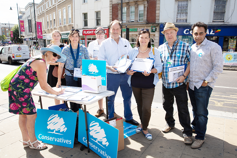 Group Shot of Merton Campaigning