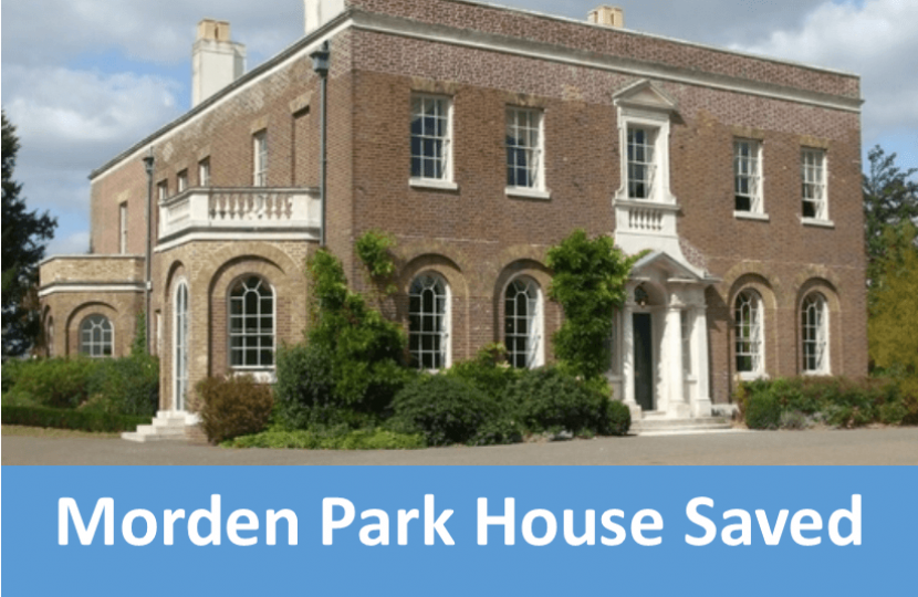 Morden Park House Closure Stopped