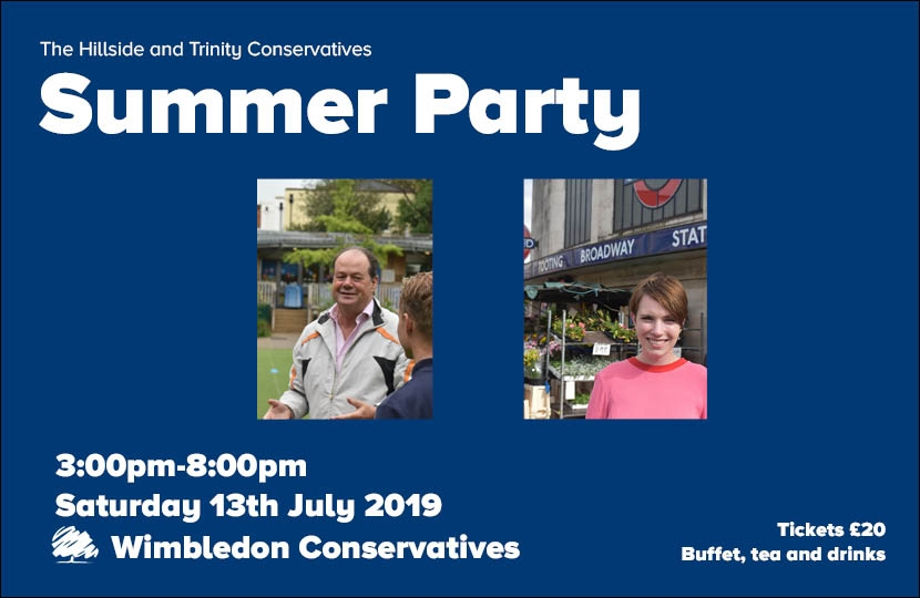 Summer Party with guests Stephen Hammond MP and Cllr Louise Calland