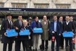 Conservative Team at Wimbledon Station